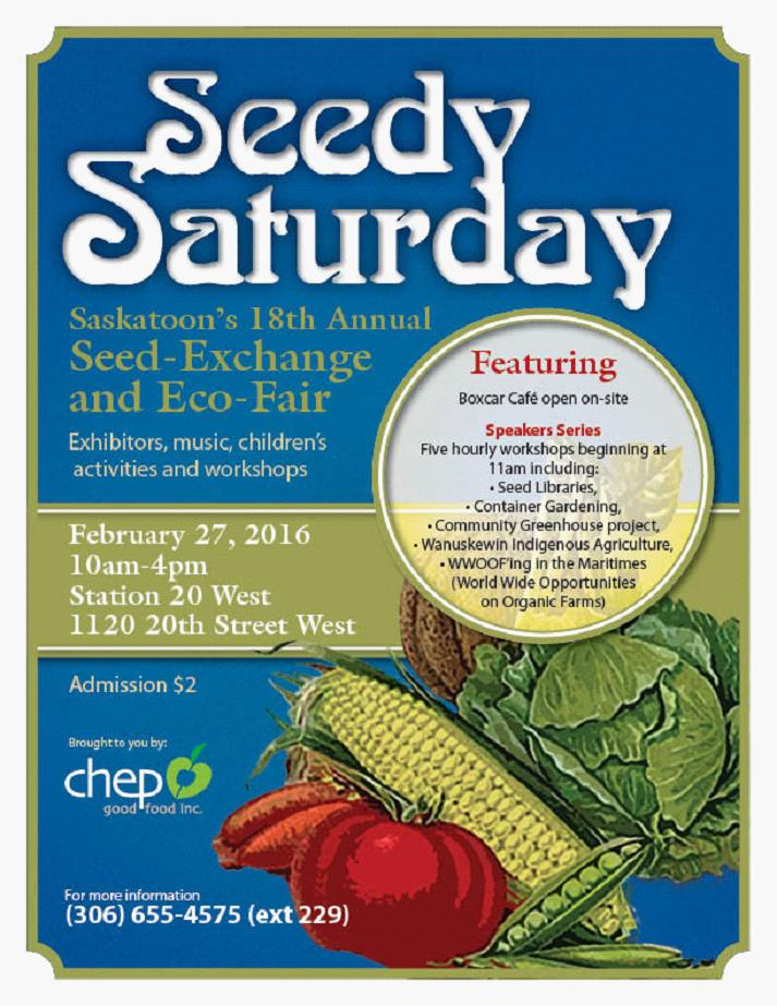 Seedy Saturday Seed-Exchange and Eco-Fair