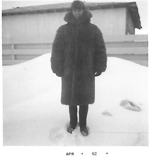Charlie Short – Winter of 1962  wearing his Police buffalo coat