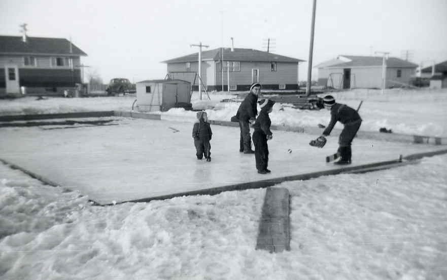 Harder backyard rink c1960