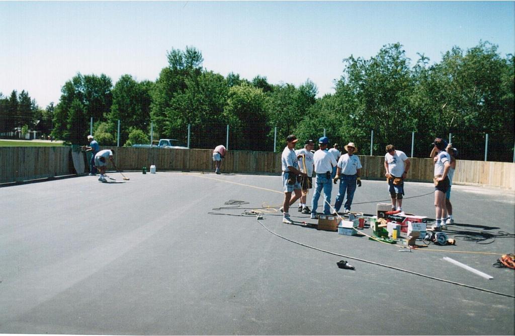 Rink building June 1995-6
