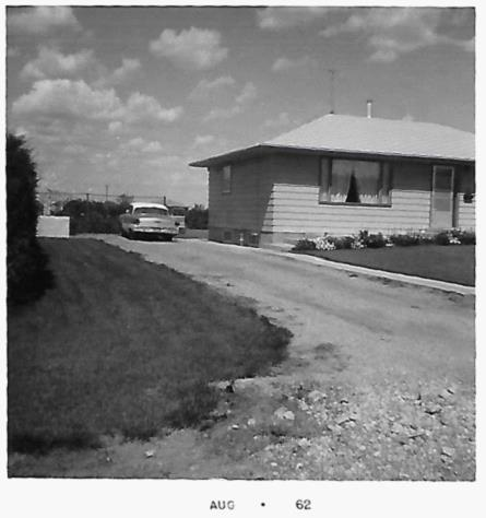 Summer of 1962 – no garage yet