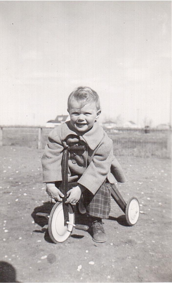 Montgomery- Lucille on tricycle 1949