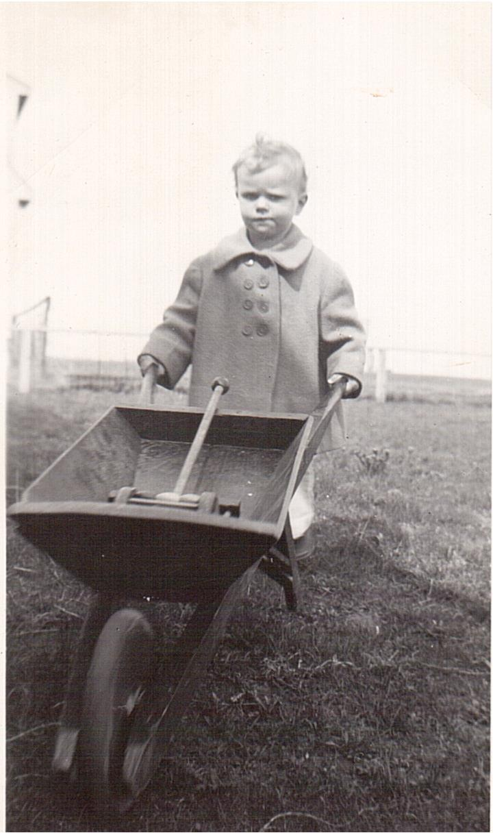Montgomery -Lucille with wheelbarrow 1949