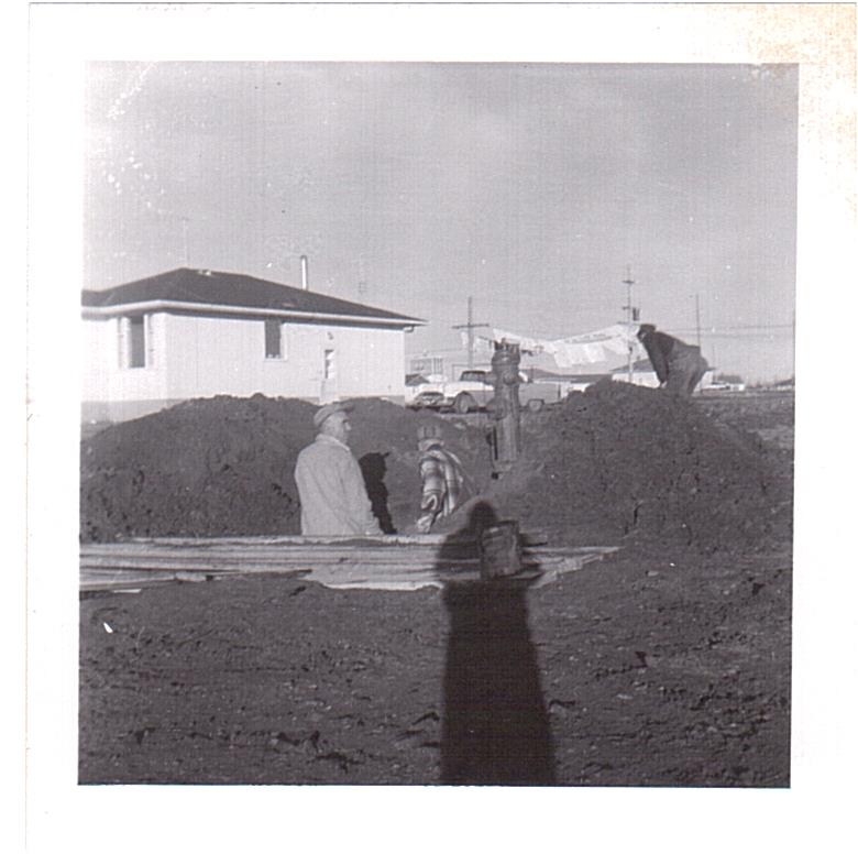 Vassie-Work on Delparte house -3140 Dieppe c1958