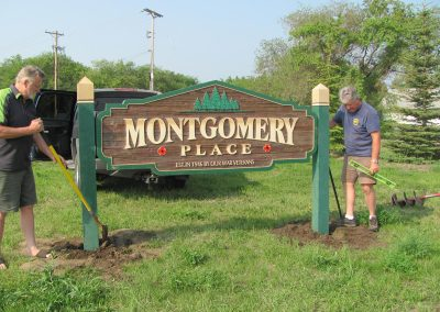 Installation of the Montgomery Place sign - July 9, 2014 (2)